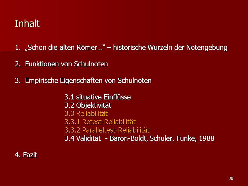 """30 Inhalt 1. """"Schon die alten Römer… – historische Wurzeln der Notengebung 2."""