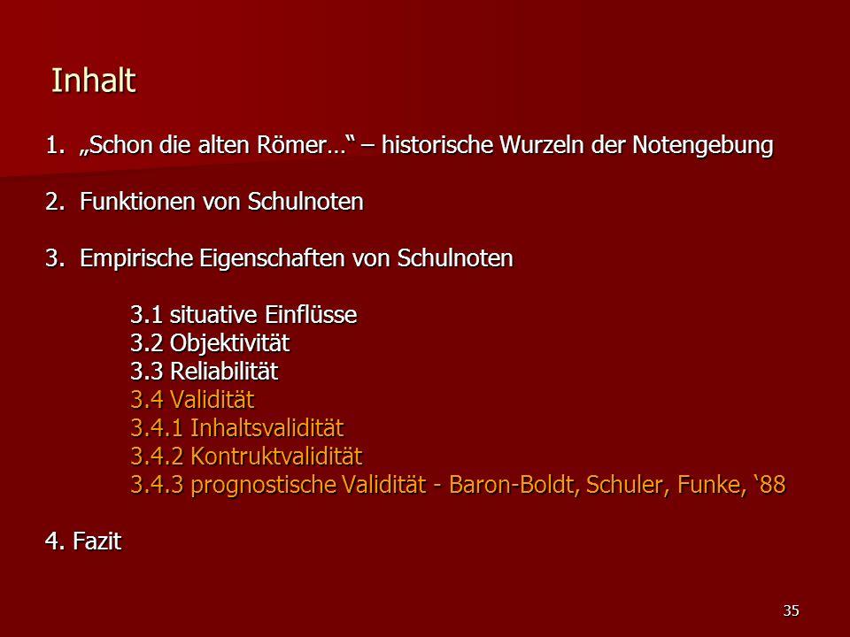 """35 Inhalt 1. """"Schon die alten Römer… – historische Wurzeln der Notengebung 2."""