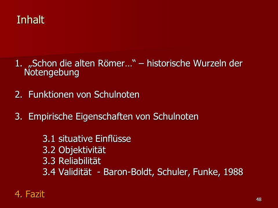 """48 Inhalt 1. """"Schon die alten Römer… – historische Wurzeln der Notengebung 2."""