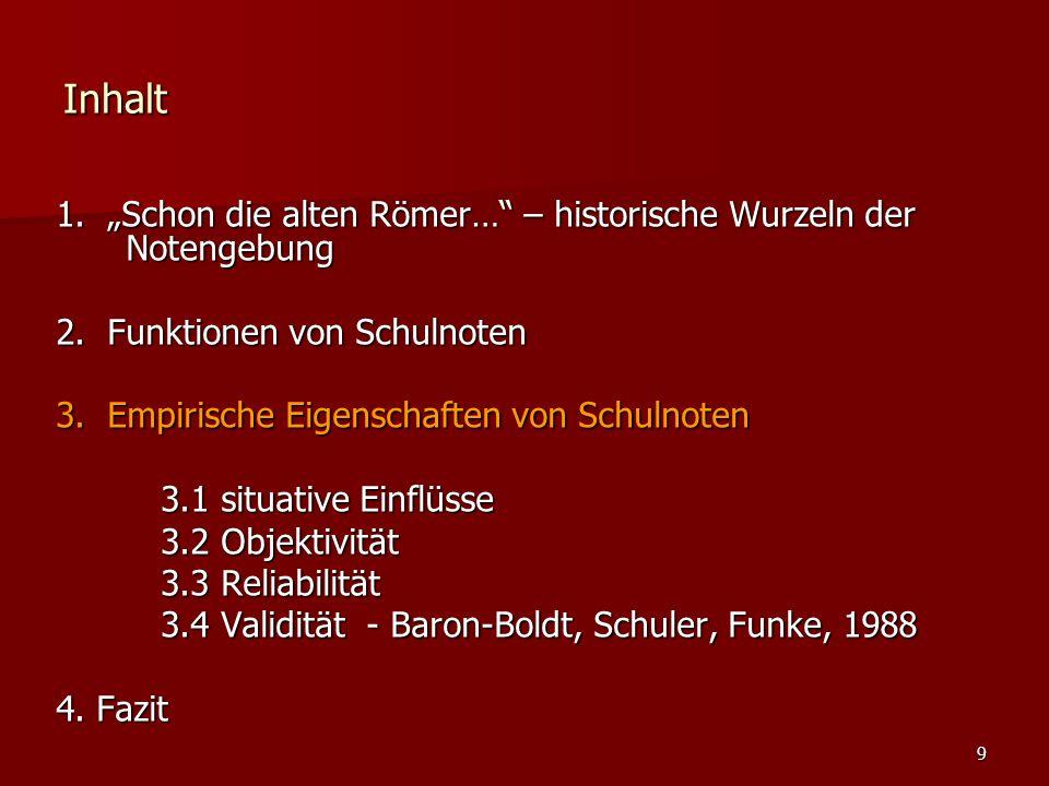 """9 Inhalt 1. """"Schon die alten Römer… – historische Wurzeln der Notengebung 2."""