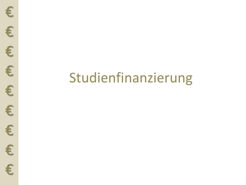 €€€€€€€€€€€€€€€€€€ Studienfinanzierung