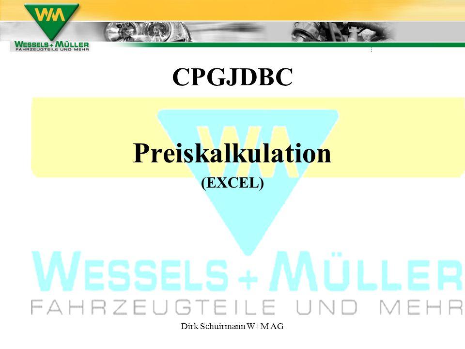 CPGJDBC Preiskalkulation (EXCEL)