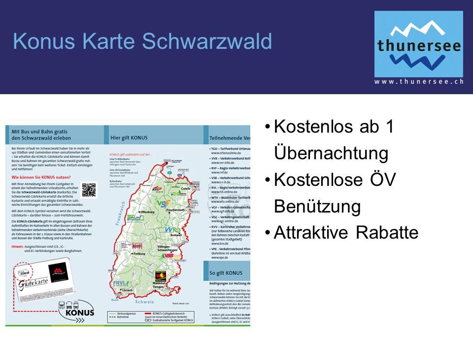 Konus Karte Schwarzwald Kostenlos ab 1 Übernachtung Kostenlose ÖV Benützung Attraktive Rabatte