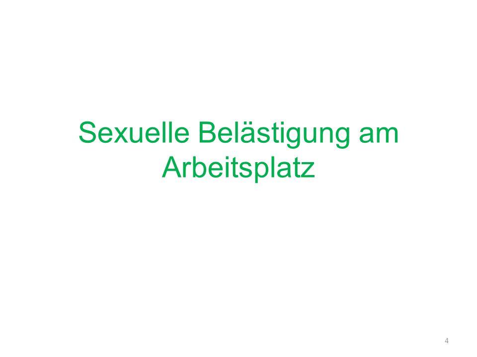 Sexuelle Belästigung am Arbeitsplatz 4