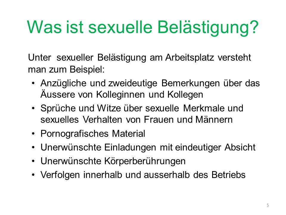 Was ist sexuelle Belästigung.