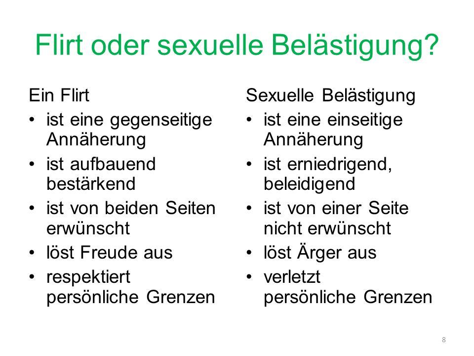 Flirt oder sexuelle Belästigung.