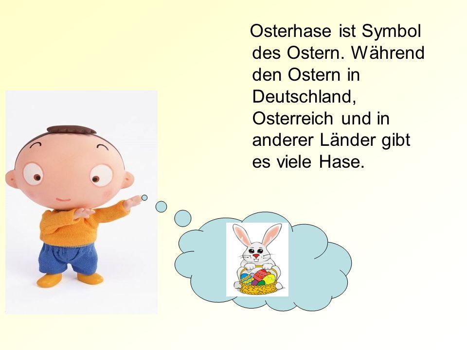 Osterhase ist Symbol des Ostern.