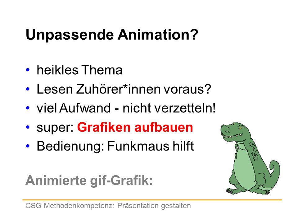 Unpassende Animation. heikles Thema Lesen Zuhörer*innen voraus.