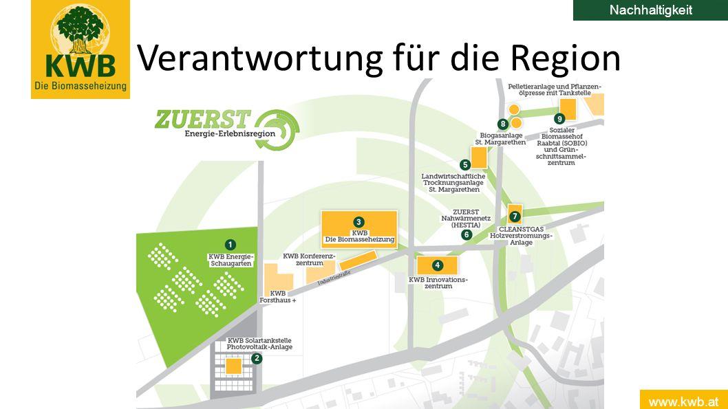 www.kwb.at 15 Verantwortung für die Region Nachhaltigkeit