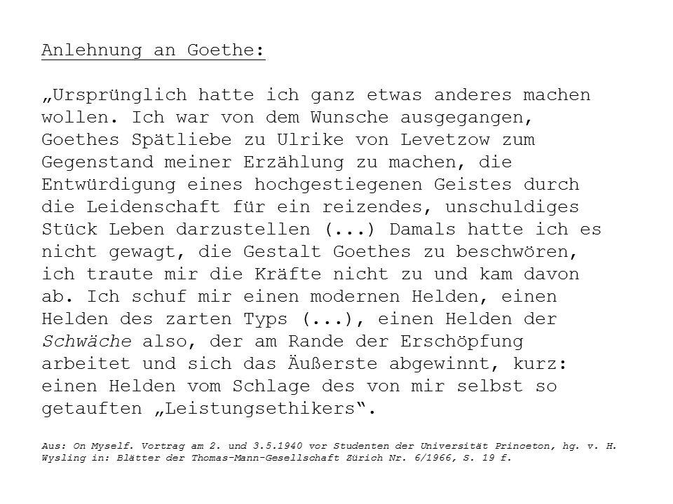 """Anlehnung an Goethe: """"Ursprünglich hatte ich ganz etwas anderes machen wollen."""