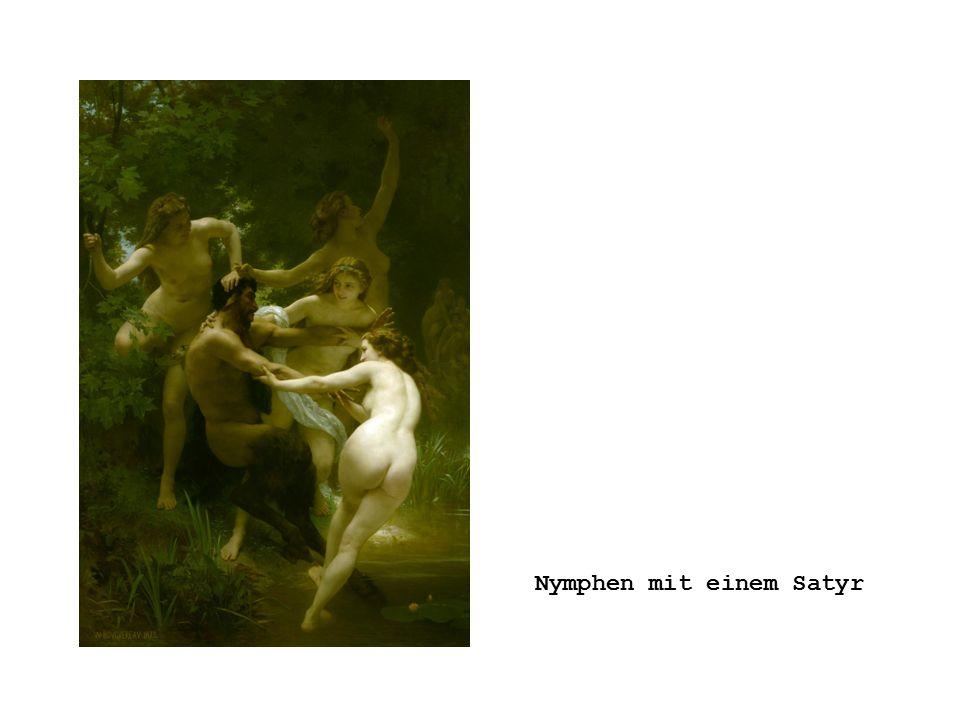 Nymphen mit einem Satyr