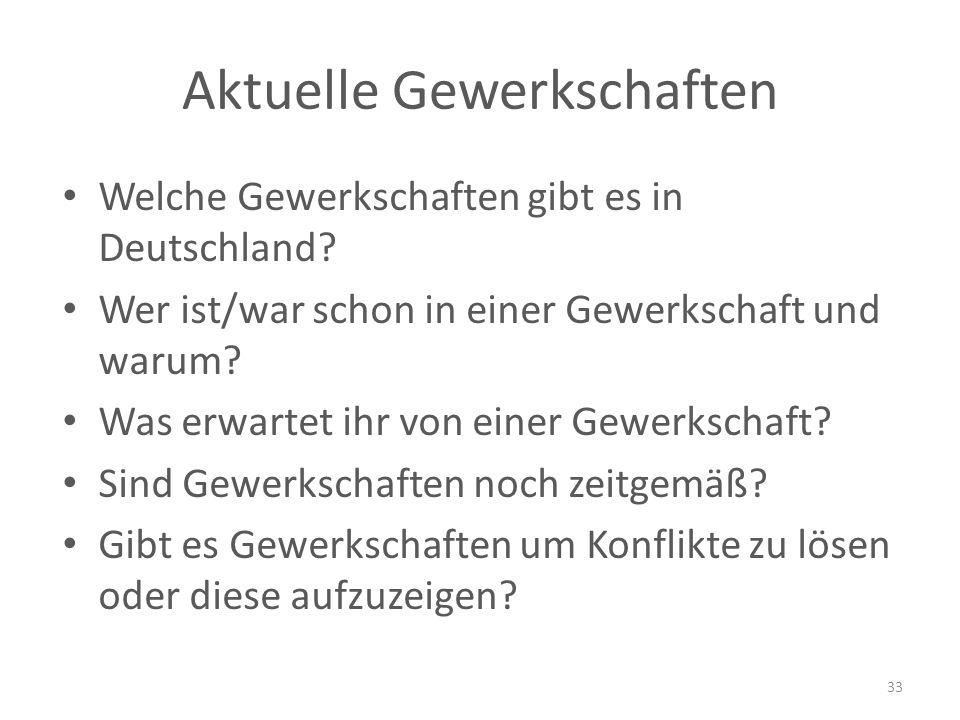 Aktuelle Gewerkschaften Welche Gewerkschaften gibt es in Deutschland.