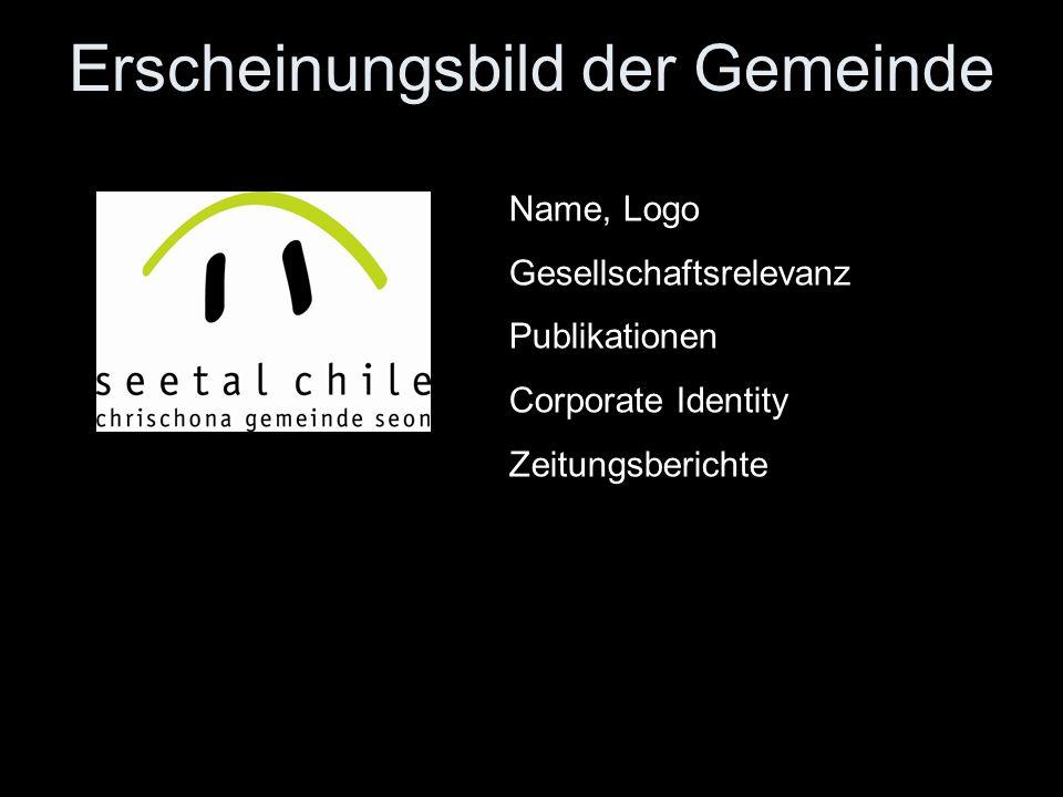 Erscheinungsbild der Gemeinde Name, Logo Gesellschaftsrelevanz Publikationen Corporate Identity Zeitungsberichte