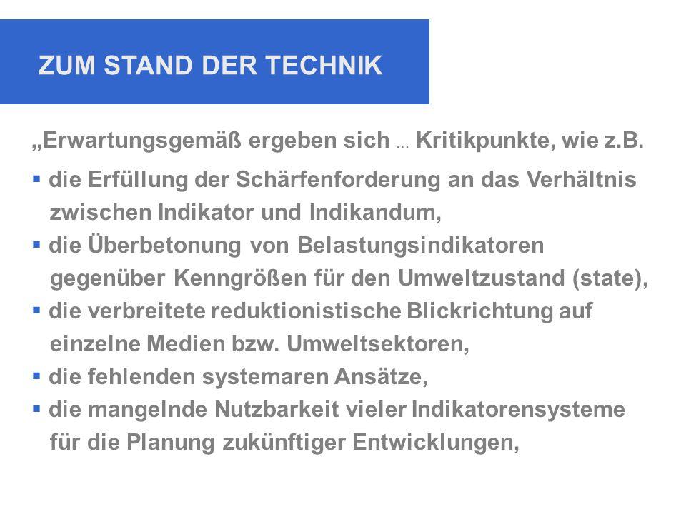 """ZUM STAND DER TECHNIK """"Erwartungsgemäß ergeben sich … Kritikpunkte, wie z.B."""