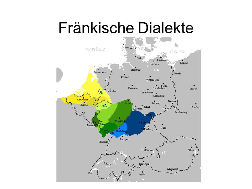 Fränkische Dialekte