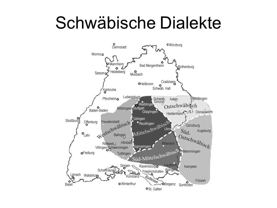 Schwäbische Dialekte