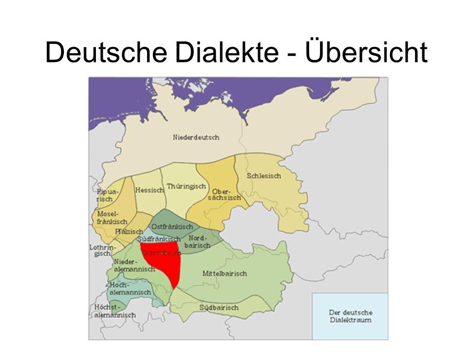 Deutsche Dialekte - Übersicht
