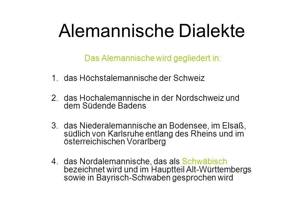 Alemannische Dialekte