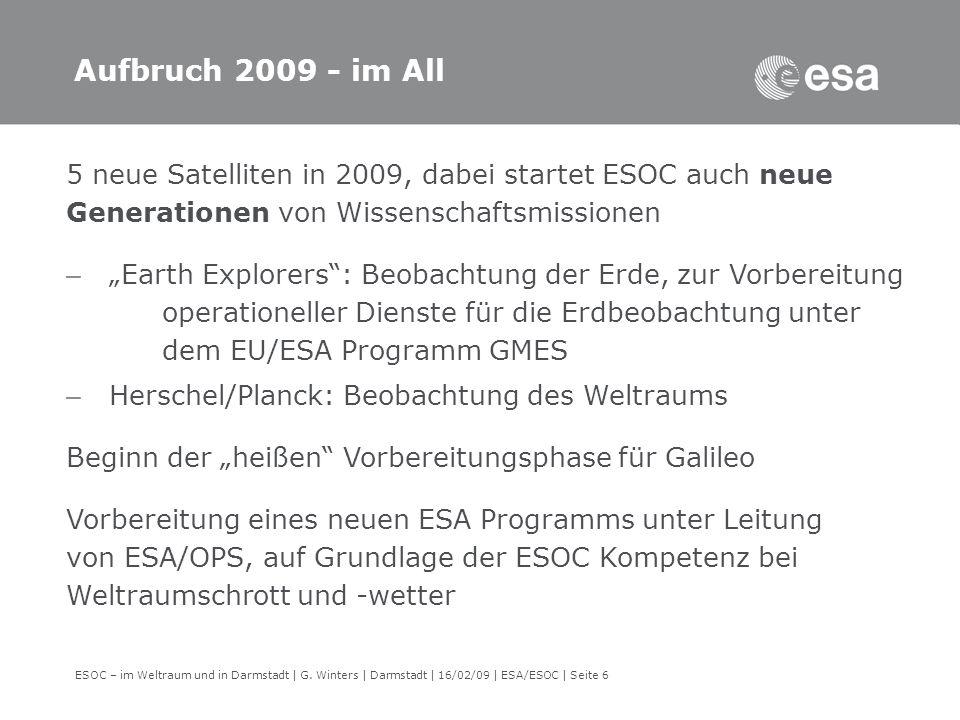 ESOC – im Weltraum und in Darmstadt | G.