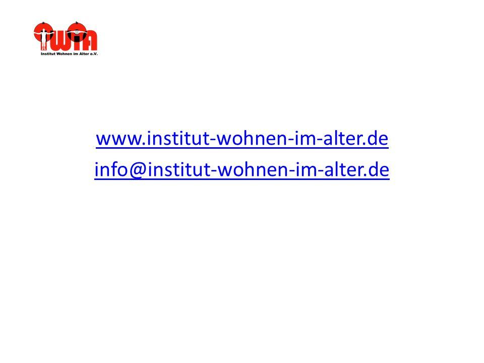 www.institut-wohnen-im-alter.de info@institut-wohnen-im-alter.de