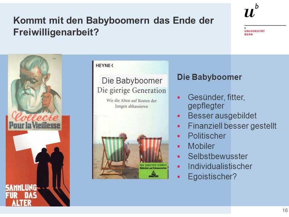 Kommt mit den Babyboomern das Ende der Freiwilligenarbeit.
