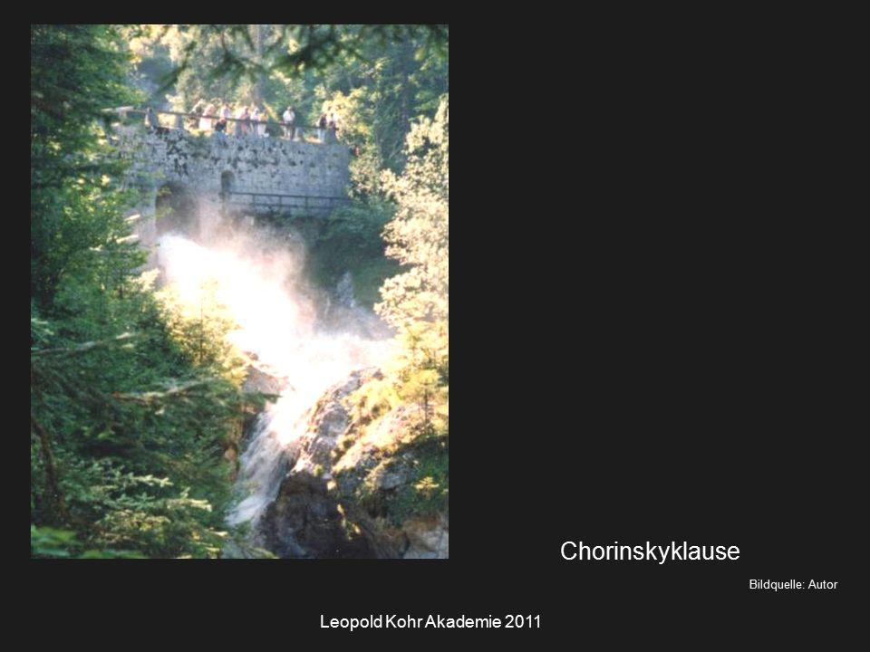 Leopold Kohr Akademie 2011 Bildquelle: Autor Chorinskyklause