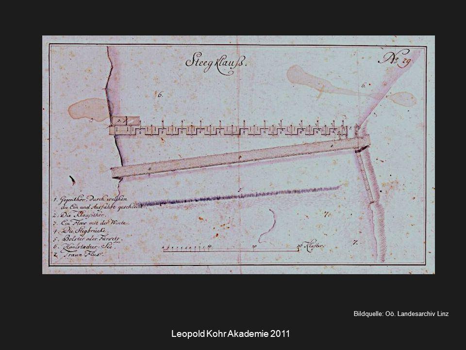 Leopold Kohr Akademie 2011 Bildquelle: Oö. Landesarchiv Linz