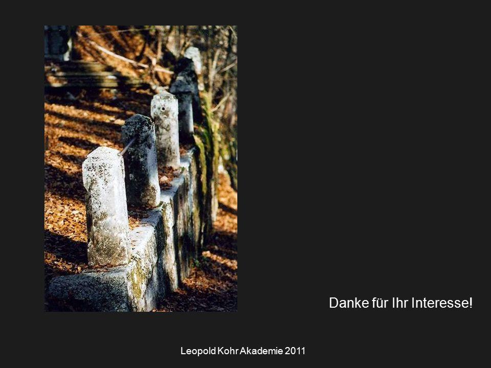 Leopold Kohr Akademie 2011 Danke für Ihr Interesse!