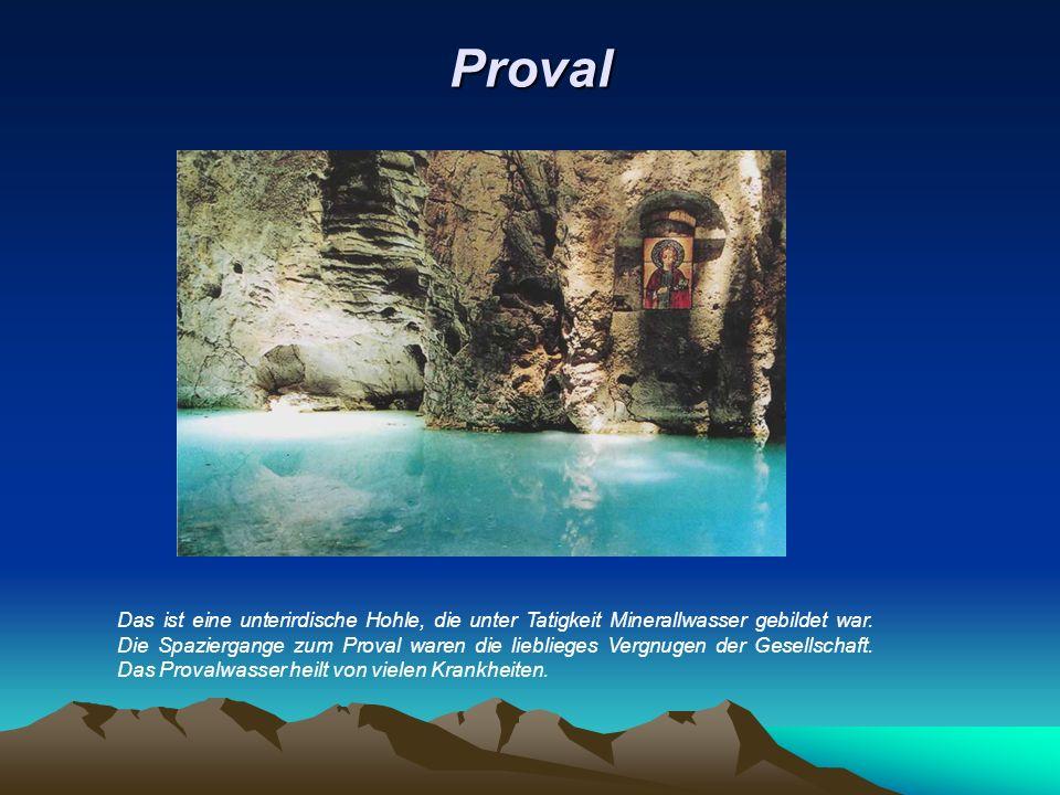 Proval Das ist eine unterirdische Hohle, die unter Tatigkeit Minerallwasser gebildet war.