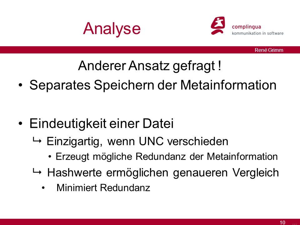 10 … René Grimm Analyse Anderer Ansatz gefragt .