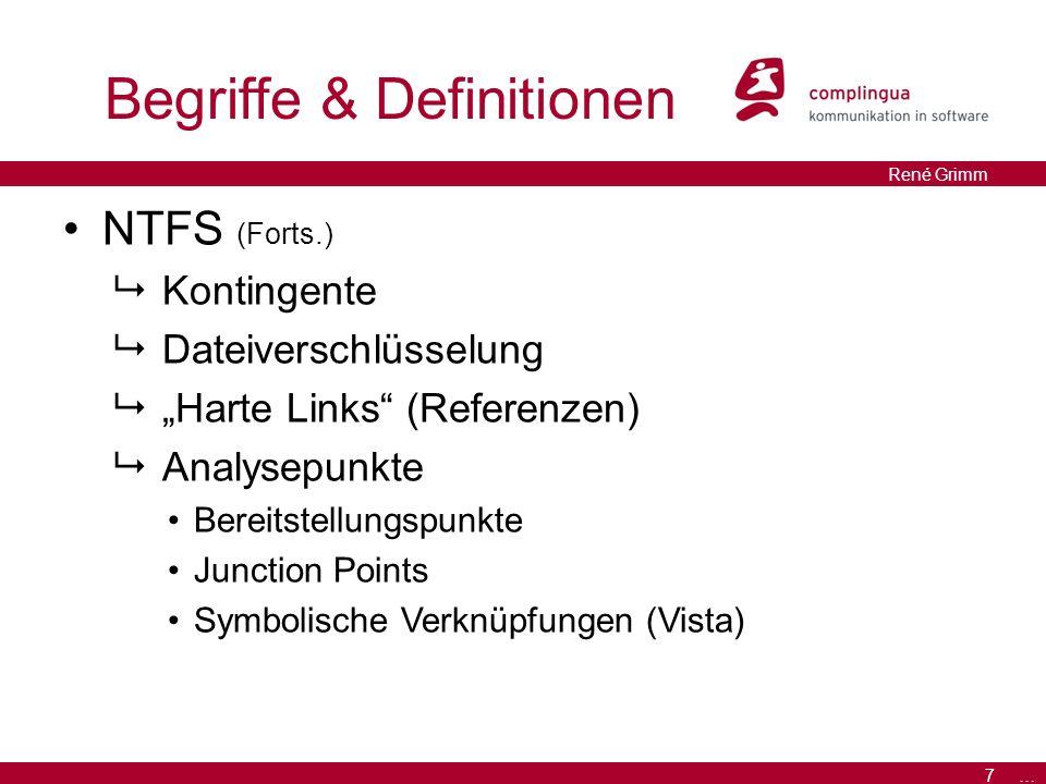 """8 … René Grimm Analyse Dokumentenmanagement  Speichern von Metadaten """"Alternate Data Streams (ADS)  Bereits genutzt Zone Identifier Filehandle … (http://en.wikipedia.org/wiki/Comparison_of_file_systems#Metadata)http://en.wikipedia.org/wiki/Comparison_of_file_systems#Metadata"""