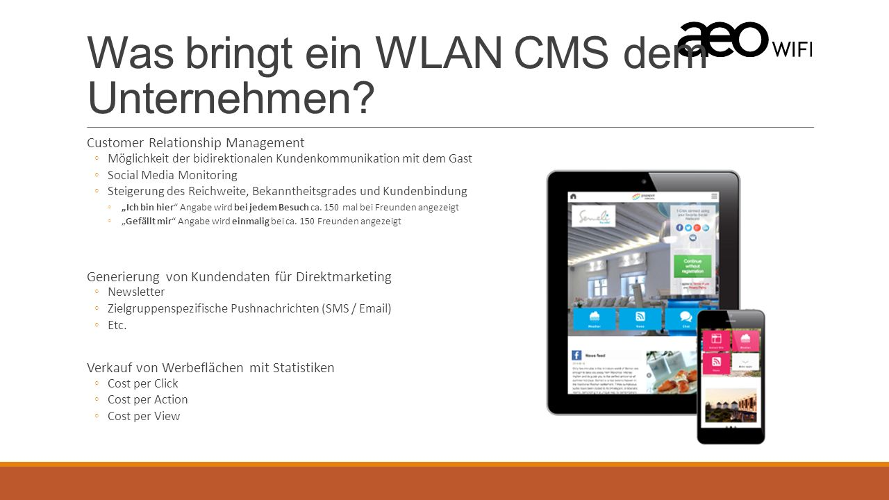 Was bringt ein WLAN CMS dem Unternehmen.