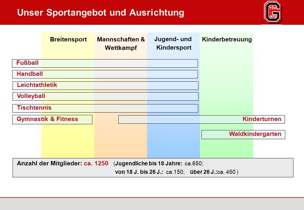 Augsburg / Göggingen 2007 Seite 3 TSV Göggingen 1875 e.V., www.tsv-goeggingen.de Jugend- und Kindersport Unser Sportangebot und Ausrichtung Mannschaft