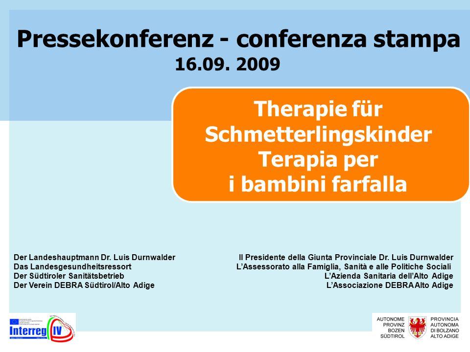 Therapie für Schmetterlingskinder Terapia per i bambini farfalla 16.09.