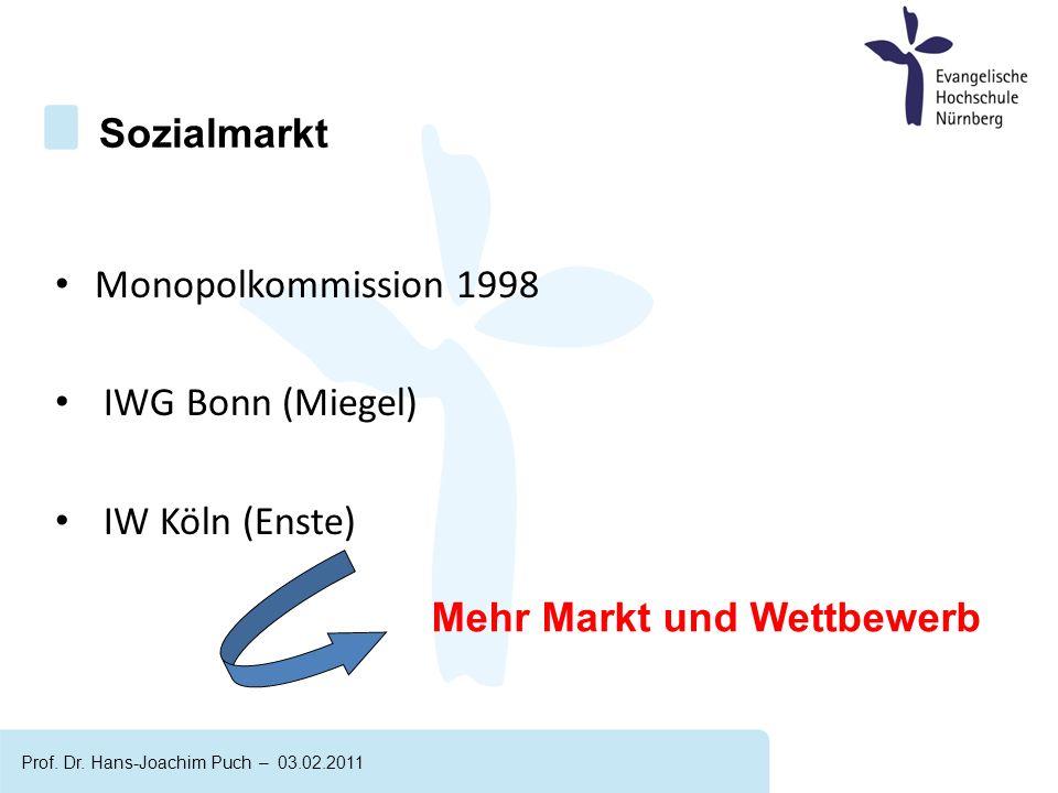 Monopolkommission 1998 IWG Bonn (Miegel) IW Köln (Enste) Sozialmarkt Prof.