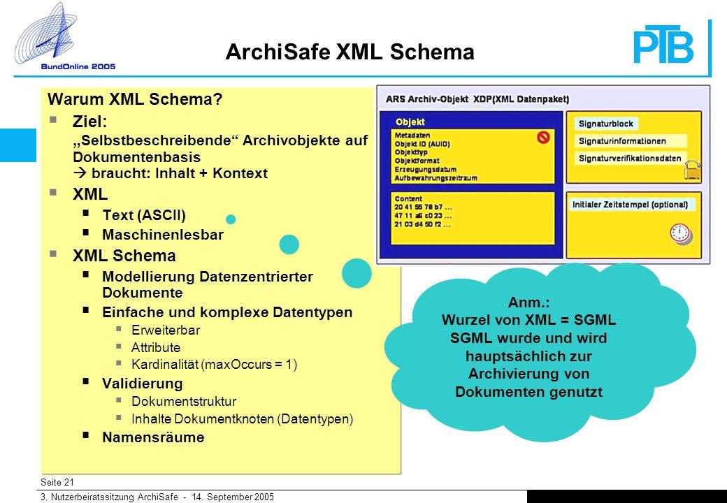 Seite 21 3. Nutzerbeiratssitzung ArchiSafe - 14.