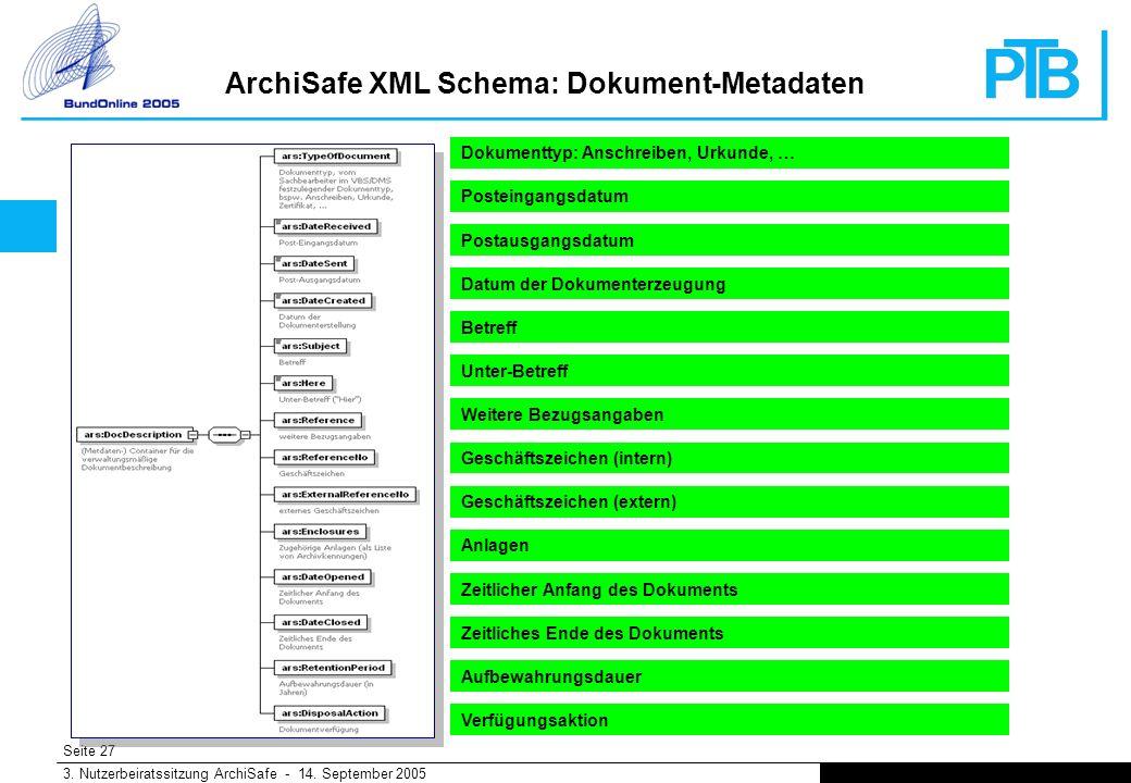 Seite 27 3. Nutzerbeiratssitzung ArchiSafe - 14.