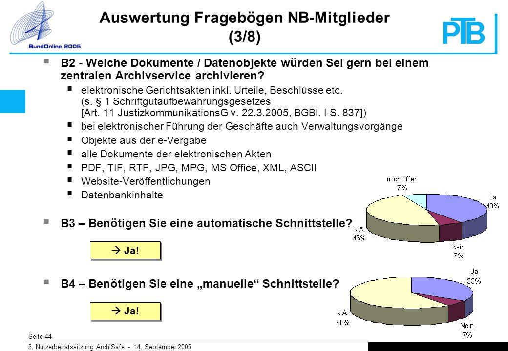 Seite 44 3. Nutzerbeiratssitzung ArchiSafe - 14.