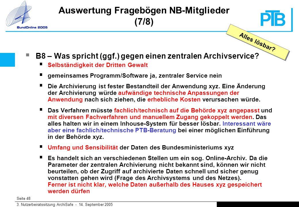 Seite 48 3. Nutzerbeiratssitzung ArchiSafe - 14.