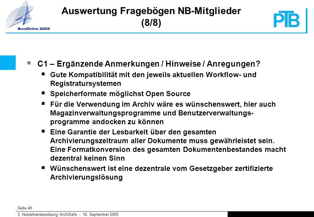 Seite 49 3. Nutzerbeiratssitzung ArchiSafe - 14.