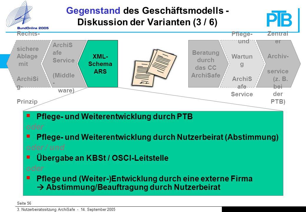 Seite 56 3. Nutzerbeiratssitzung ArchiSafe - 14.