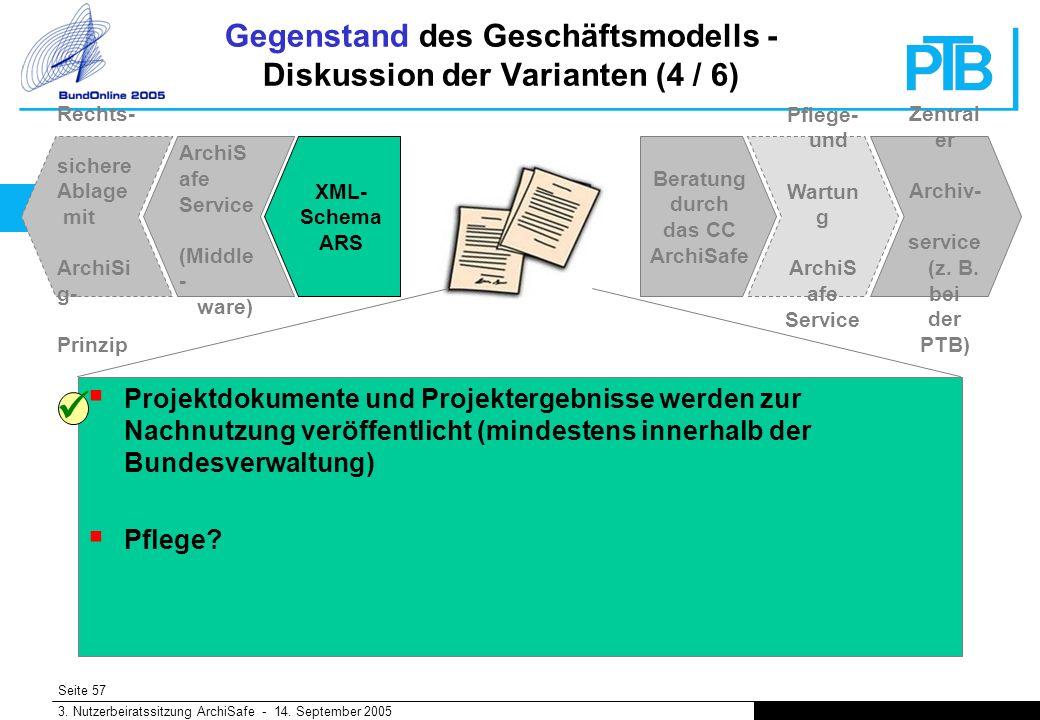 Seite 57 3. Nutzerbeiratssitzung ArchiSafe - 14.