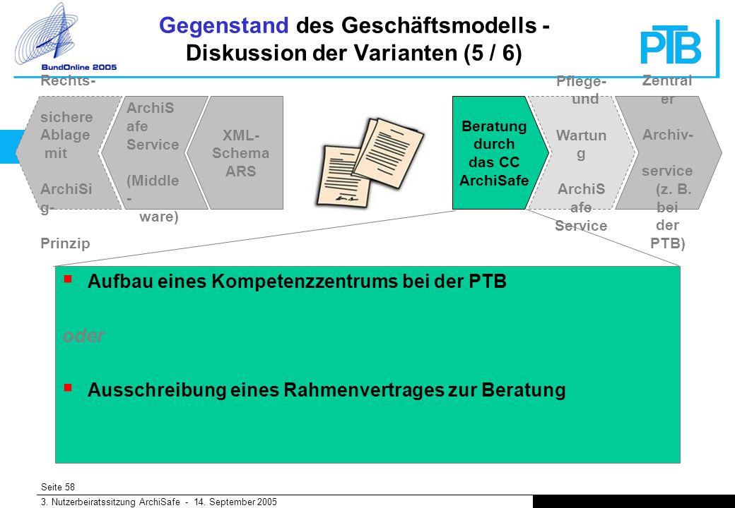 Seite 58 3. Nutzerbeiratssitzung ArchiSafe - 14.