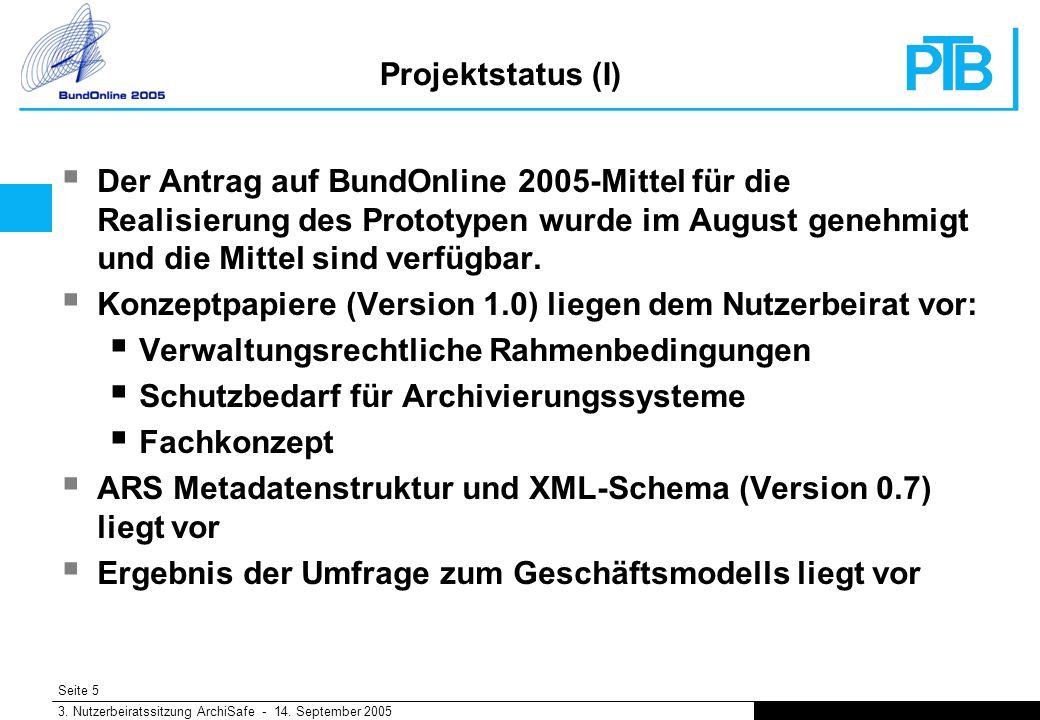Seite 5 3. Nutzerbeiratssitzung ArchiSafe - 14.