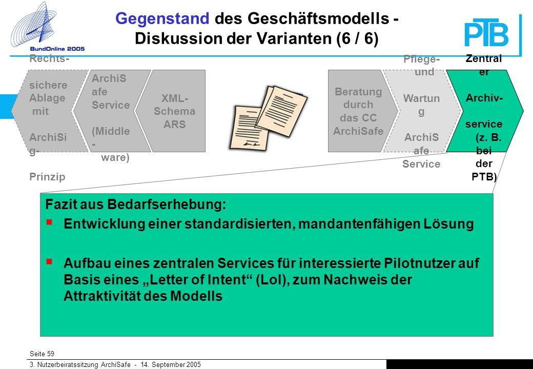 Seite 59 3. Nutzerbeiratssitzung ArchiSafe - 14.