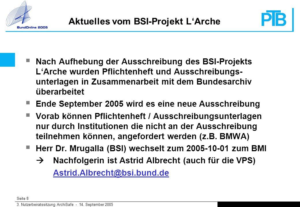 Seite 8 3. Nutzerbeiratssitzung ArchiSafe - 14.