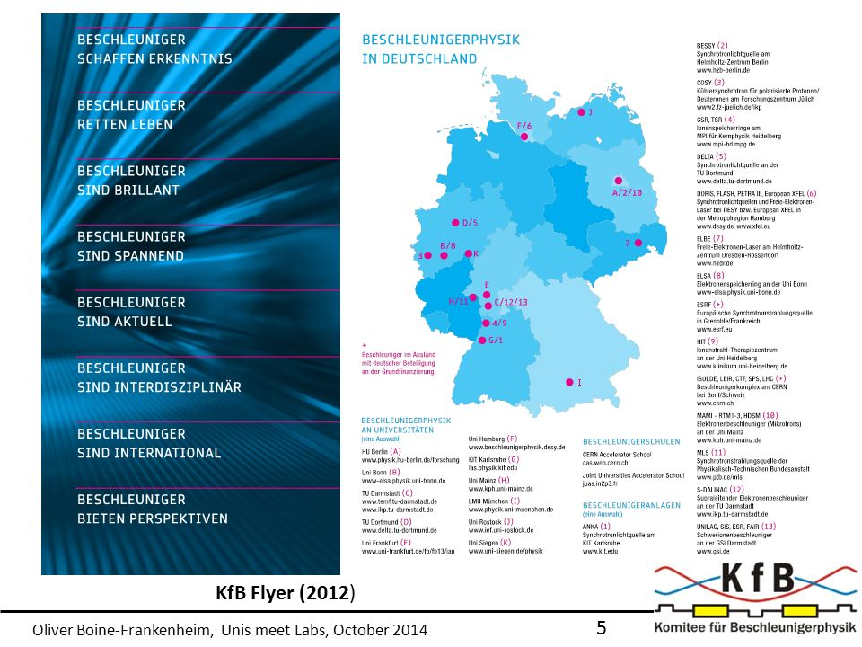 Oliver Boine-Frankenheim, Unis meet Labs, October 2014 KfB Flyer (2012) 5