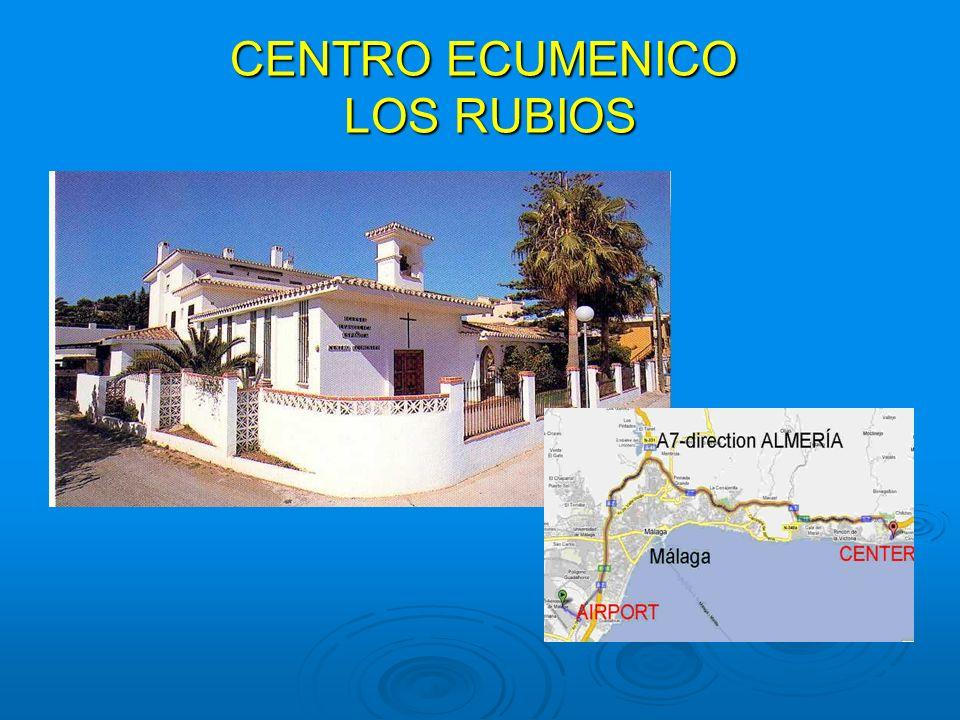 """Wer wir sind und was wir anbieten Das Centro Ecuménico """"Los Rubios ist eine Herberge im schlichten andalusischen Stil, welche als eine ökumenische Einrichtung der Evangelischen Kirche Spaniens (IEE) jede Person, unabhängig von seiner religiösen Ausrichtung, seiner Herkunft oder seines Alters herzlich willkommen heisst."""