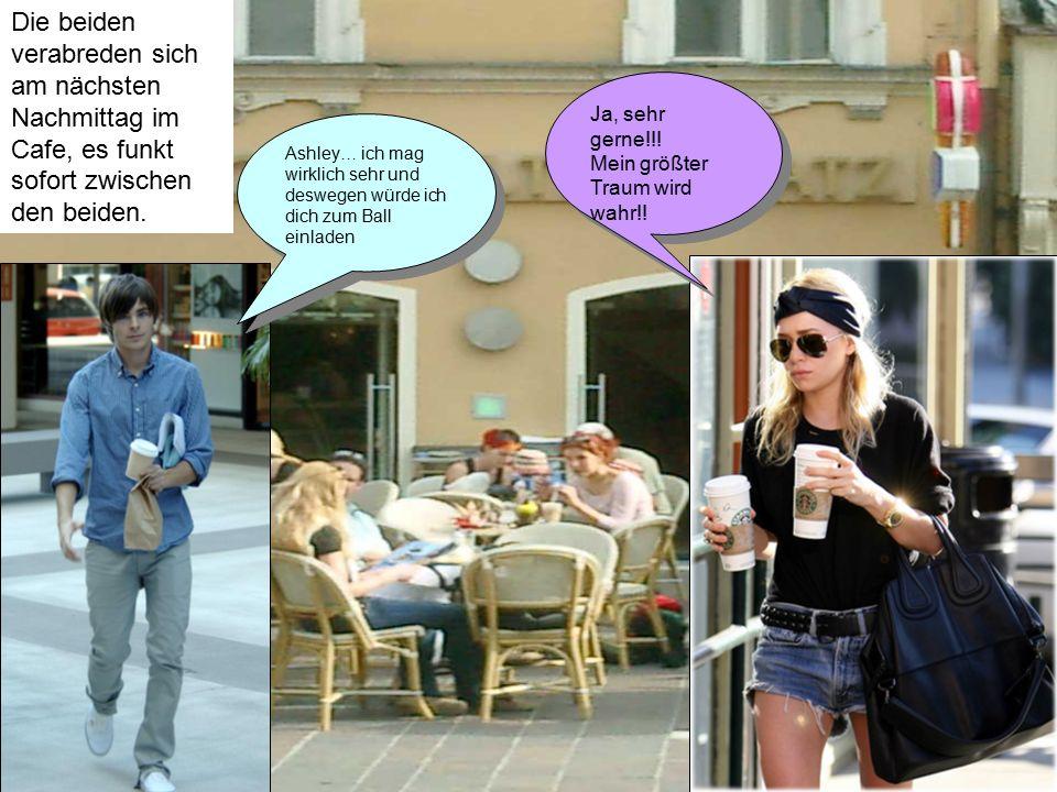 Die beiden verabreden sich am nächsten Nachmittag im Cafe, es funkt sofort zwischen den beiden.
