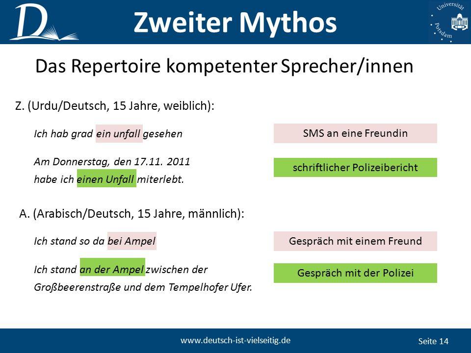 Seite 14 www.deutsch-ist-vielseitig.de Am Donnerstag, den 17.11.